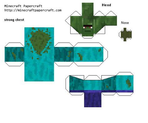 Minecraft Papercraft Villager - paper crafts minecraft animals mod