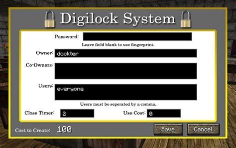 Door Lock Plugin digilock bukkit