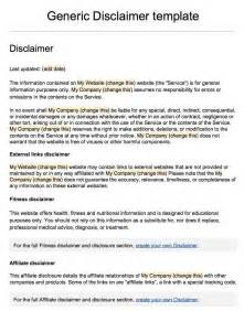 disclaimer templates sle disclaimer template termsfeed