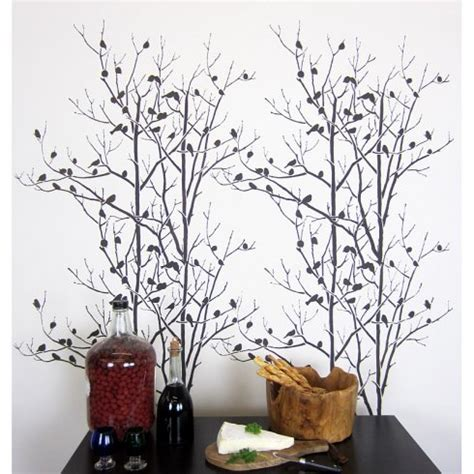 tree template for wall how to stencil the birds in trees wall pattern stencil
