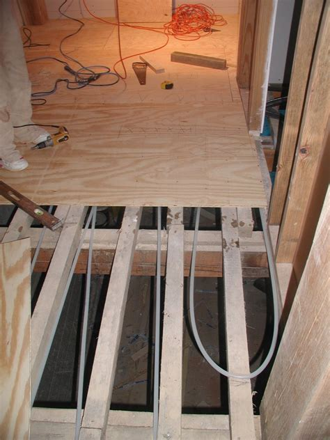 how to build floor building a timberframe home from scratch radiant tubing