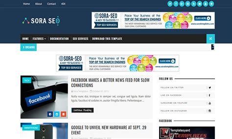 templates seo blogger sora seo blogger template