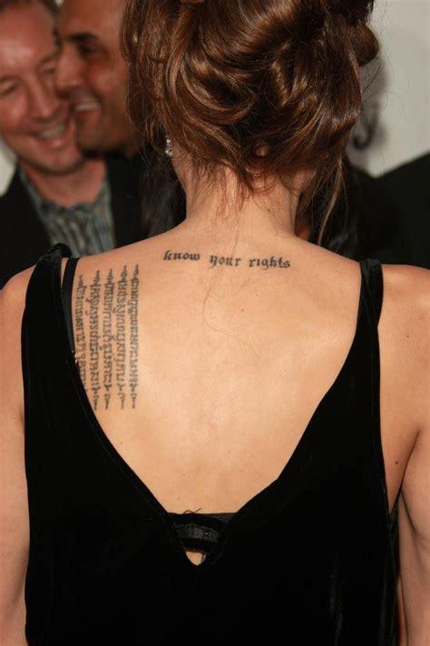angelina jolie latin tattoo meaning angelina jolie latin tattoos