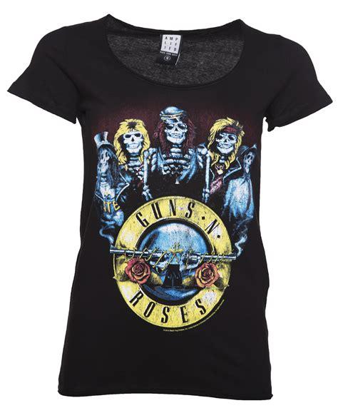 T Shirt Kaos Band Gnr Gun N Roses s black guns n roses skeleton drum t shirt from lified