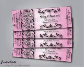 free sweet sixteen invitation templates printable sweet 16 birthday ticket invitation by