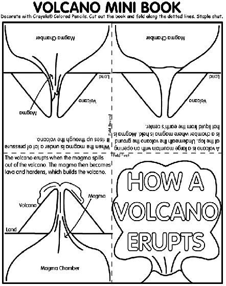 volcano coloring pages preschool pinterest the world s catalog of ideas