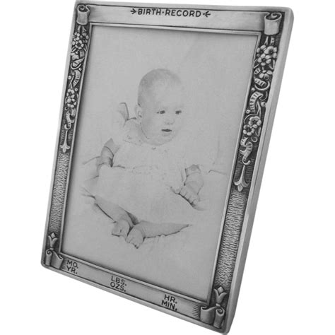 Birth Record Picture Frame Sterling Silver Baby Birth Record Picture Frame Webster Co