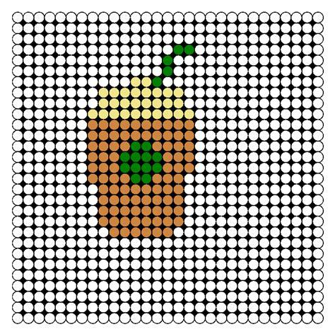 food perler bead patterns starbucks drink perler bead pattern bead sprites food