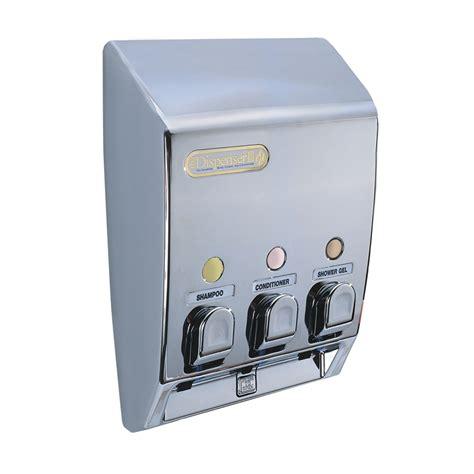 Dispenser Miyako 3 In 1 the dispenser 3 chamber chrome classic soap dispenser bunnings warehouse