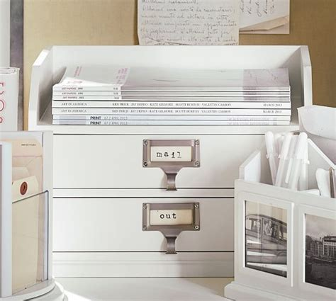 pottery barn bedford desk used bedford two paper organizer antique white from