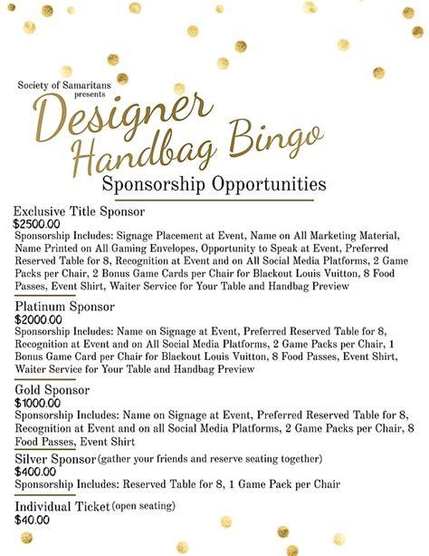 designer purse bingo society  samaritans