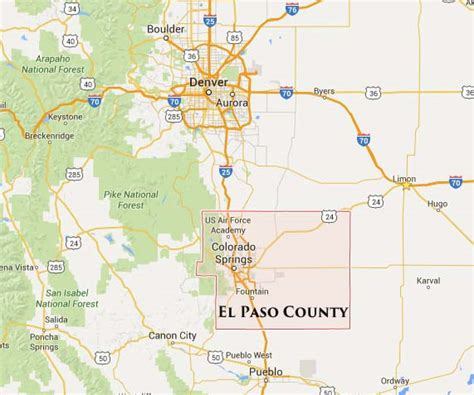 where is el co on texas map colorado springs wildfire today