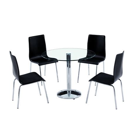 Dining Table With Four Chairs Glass Dining Table And Chairs Clearance 187 Gallery Dining