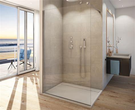 duschabtrennung feststehend glasduschwand freistehend 100 x 200 cm walk in dusche