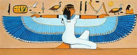imagenes arte egipcio comentadas arte egipcio mujer con alas pintura y artistas