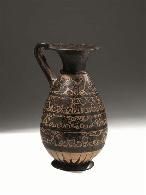 vasi etruschi valore grande olpe a rotelle etrusco corinzia archeologia