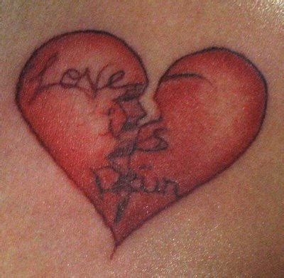 broken heart tattoo is