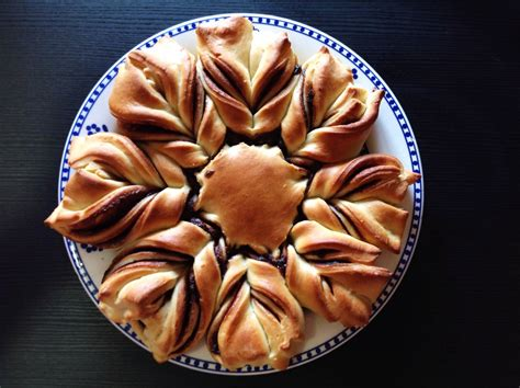 fiore di pan brioche nutella fiore di pan brioche alla nutella natale 2015 golosi