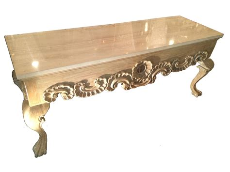 Ornate Marble Top Hall Console Table Modernism Marble Top Sofa Table