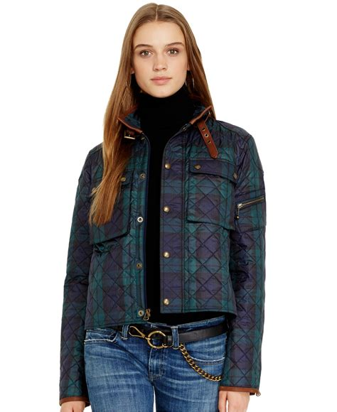 Ralph Plaid Quilted Vest by Polo Ralph Leather Trim Quilted Plaid Jacket In