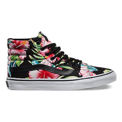 Vans Skool Aloha Flower Motif hawaiian floral sk8 hi slim vans ca store