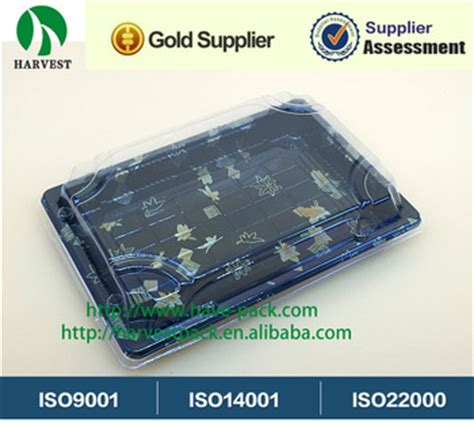 Tray Sushi Import Hp 03 Disposable Plastic Take Away Printing Sushi Tray For Food Packaging Plastic Blister Tray Hp 03