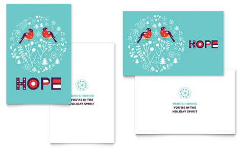 hope greeting card template design