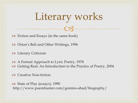 Gemino Abad Essays by E 105 Walking Free Hyperbole