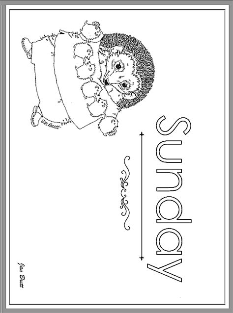 Days Of The Week Sunday Century 12 Days Of Coloring Page