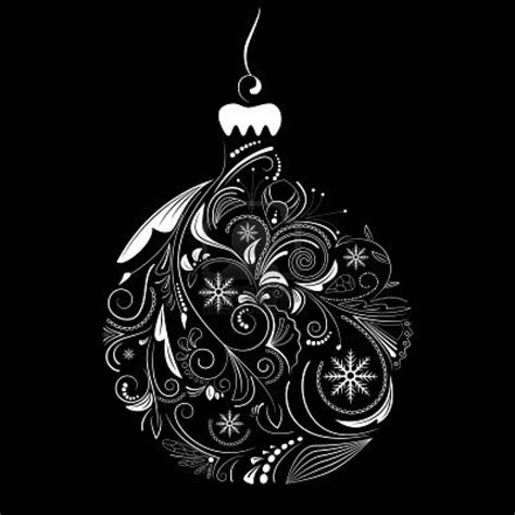 christmas ornament black and white 17 best images about