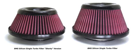 bmw turbo filter bms silicon single turbo filter 4 5 quot 3 75 quot burgertuning