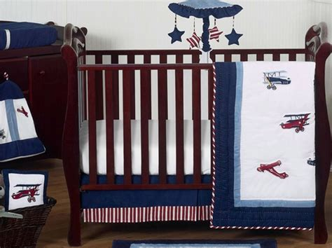 Vintage Aviator Crib Bedding White And Blue Vintage Aviator Airplane Baby Bedding 11pc Crib Set Only 189 99