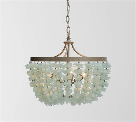 Sea Glass Chandeliers Enya Sea Glass Chandelier Pottery Barn