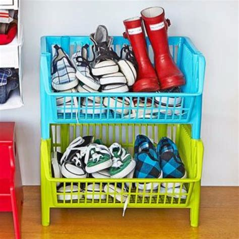 childrens shoe storage 30 diy organizing ideas for rooms