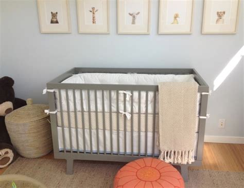 Grey Crib Nursery by Blue And Gray Nursery Nursery Amanda Teal Design