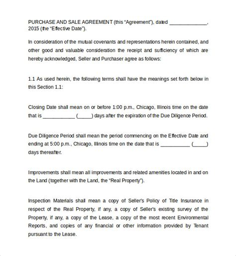 Agreement Letter For Land Land Purchase Agreement Templates 10 Free Documents In Pdf