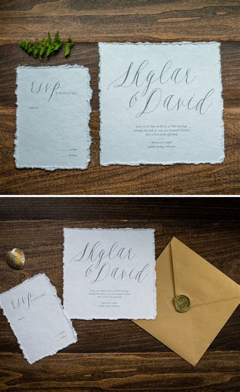 Cotton Paper Wedding Invitations by 1000 Images About Invitations Paper On