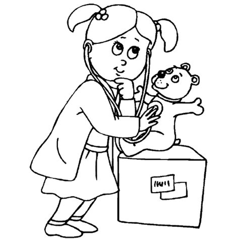 free coloring pages of doctor kit