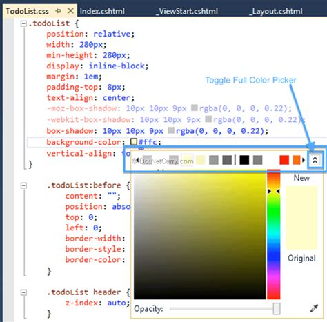 interesting with web page color picker
