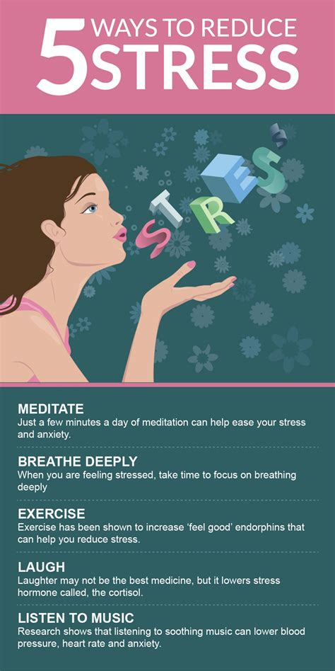 stress ultimate stress management guide to reduce remove stress anxiety depression permanently 10 effective tips to stop stress today books 5 ways to reduce stress visual ly