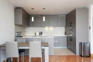 Open plan grey kitchen design modern kitchen london by lwk