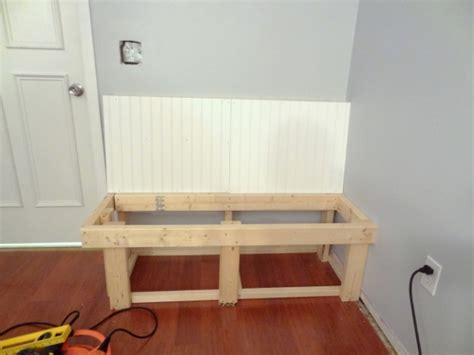 beadboard bench how to build a built in bench part i think create