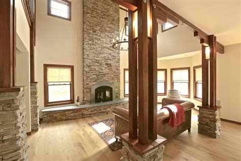 interior cedar trim ideas rustic wood columns search chlt pipe