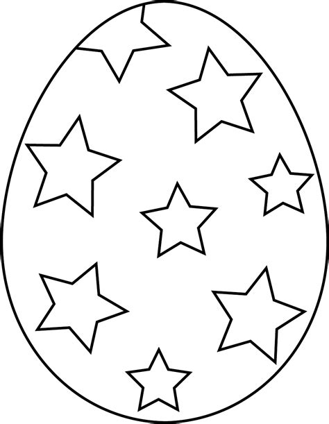outline templates easter egg outline template clipart best