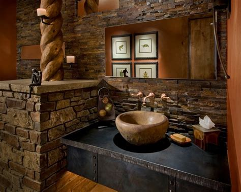 bloombety rustic bathrooms designs slate wall rustic 1000 images about bathroom remodel ideas on pinterest