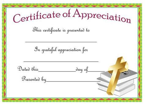 pastor appreciation certificate template free best 25 certificate of appreciation ideas only on