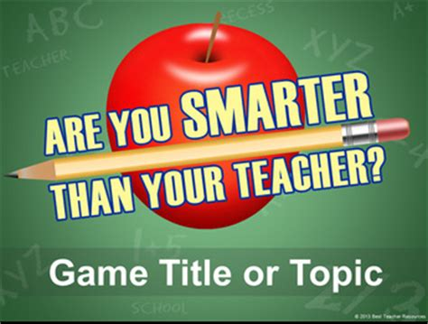 Are You Smarter Than A 5th Grader Powerpoint Template Classroom Game Are You Smarter Than A 5th Grader Powerpoint Template
