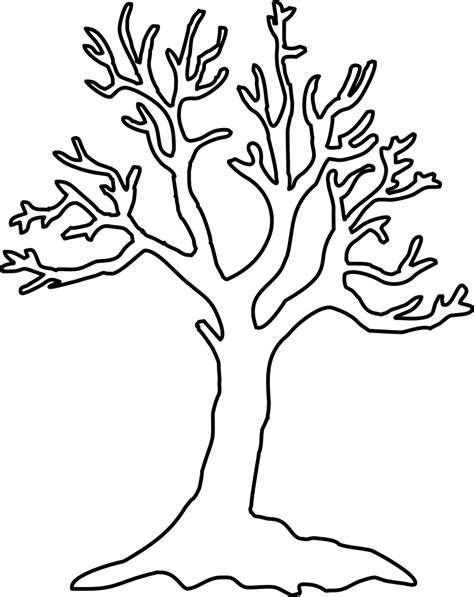 Free Stencil Of A Tree Outline Download Free Clip Art Free Clip Art On Clipart Library Tree Stencil Template
