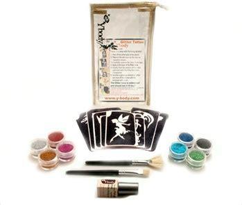 tattoo kits under 30 glitter tattoo party kit 30 adhesive stencils