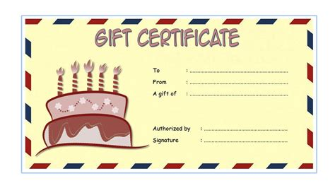 Paytronix Gift Card Template by Birthday Gift Certificate Templates The Best Template